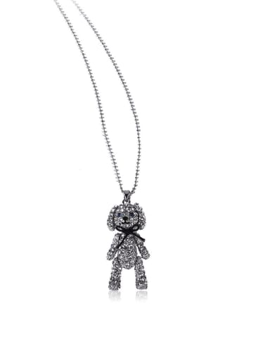 Cute bear Bling bling long necklace