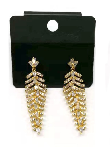 Copper With Gold Plated Trendy Charm Earrings