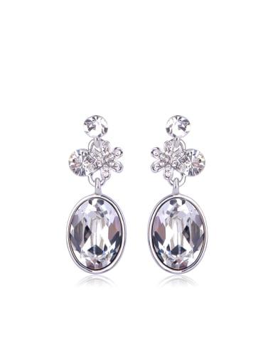 oval crystal Swarovski element crystal Earrings