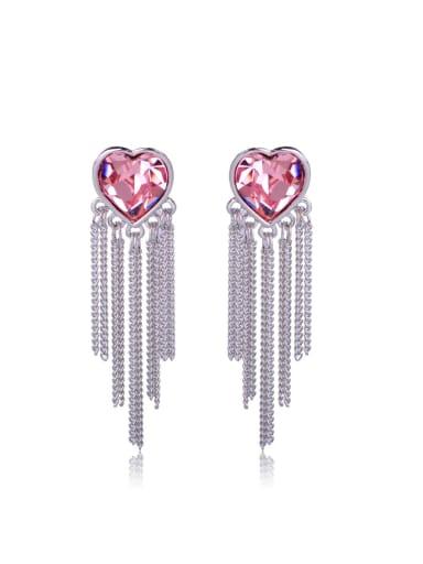 Love Crystal Tassel Swarovski element crystal Earrings