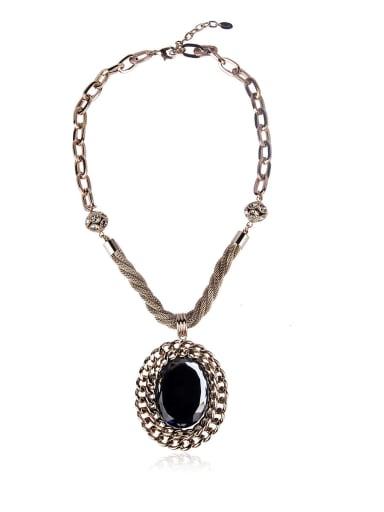 Vintage style semi-precious stones necklace