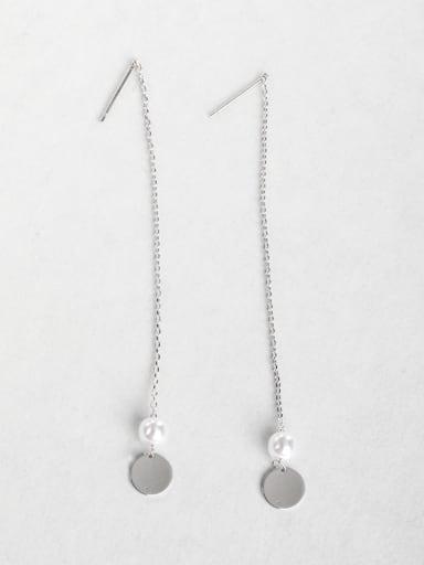 Ring  Imitation pearls Threader Earrings
