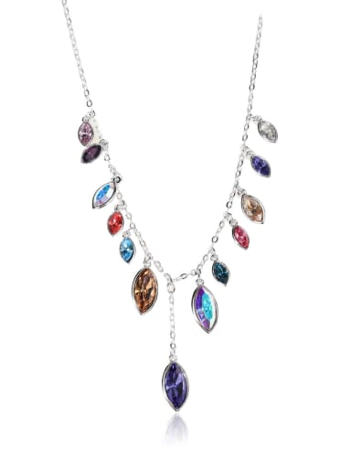 Colorful Swarovski element crystal necklace for party Charm