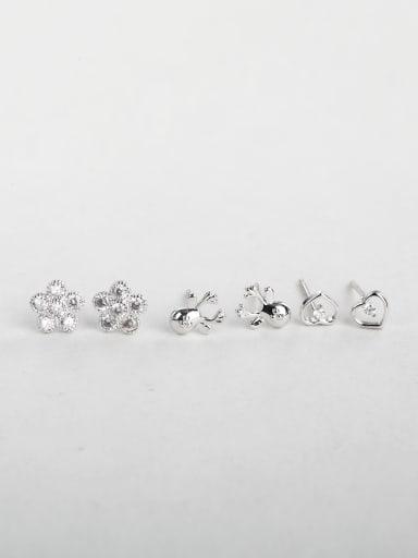 Flower starfish heart Multiple combinations cuff earrings