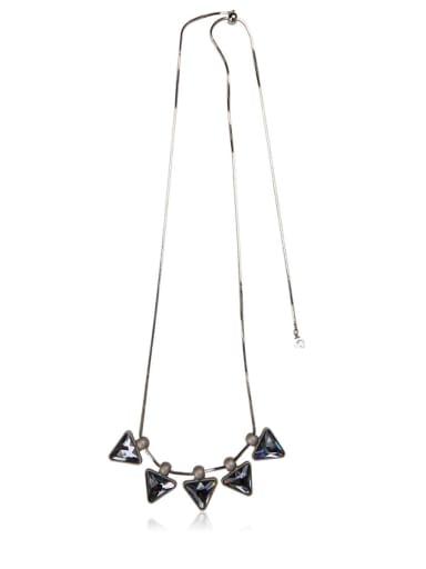 Triangle Glass Stone Necklace