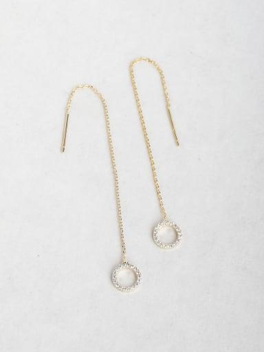 Ring Zirconium Threader Earrings