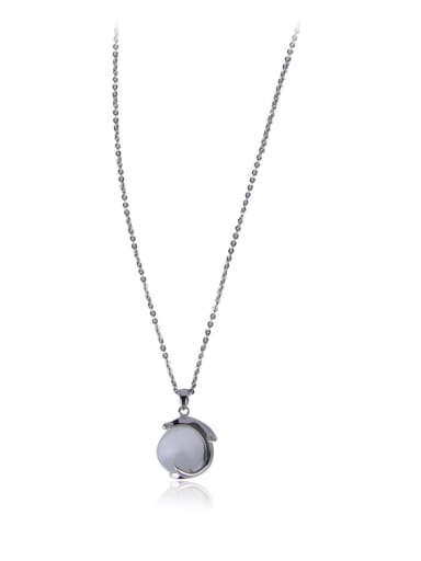 A dolphin Imitation Pearl necklace