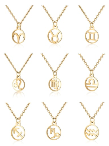 Stainless Steel With Gold Plated constellation Necklaces