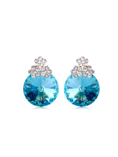 Satellite stone Flower Swarovski element crystal Earrings