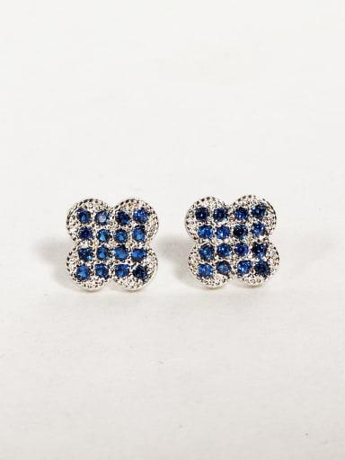 clover Rhinestone Cluster Earrings