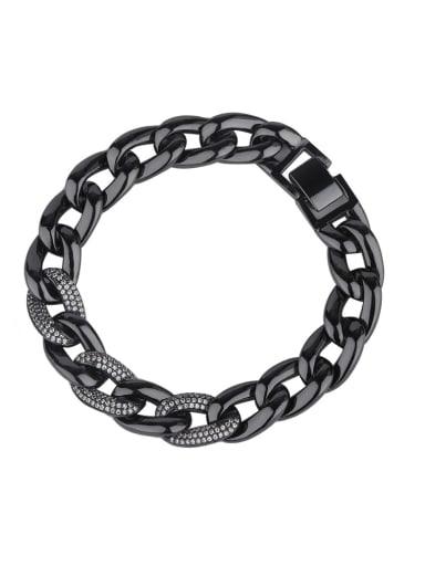 Copper With Rhinestone Classic Geometric Bracelets