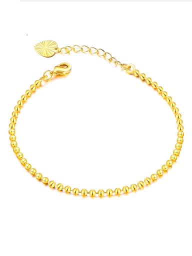 Copper With 18k Gold Plated Simplistic beads Charm Bracelets