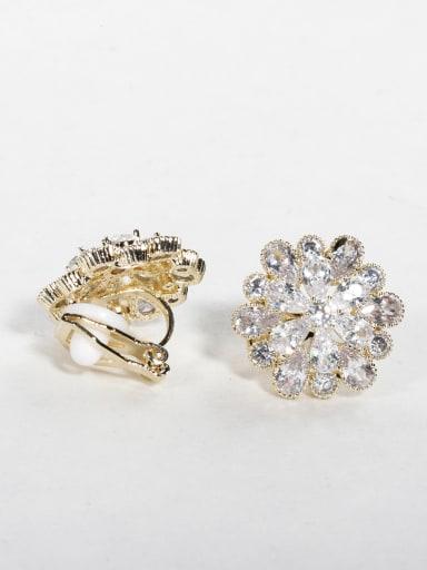 write zircon Round Cluster Earrings