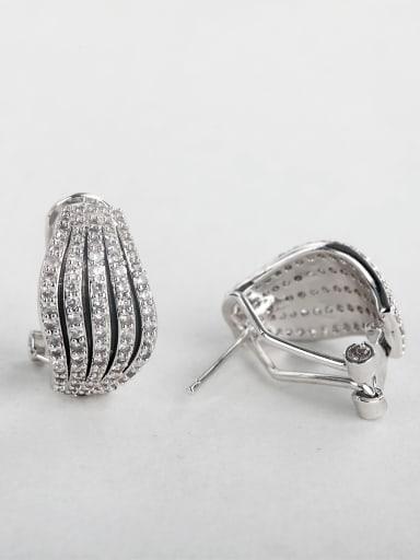 Shiny zircon Geometric Stud Earrings Cluster Earring