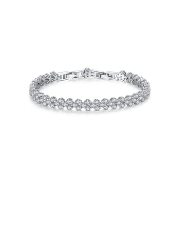Copper With Platinum Plated Simplistic Round Bracelets