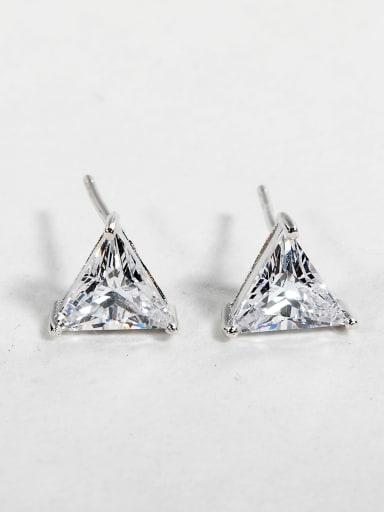 triangle Shiny zircon Stud Earrings