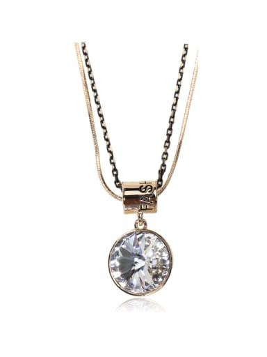 Satellite Stone  crystal Swarovski element crystal necklace