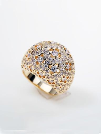 luxurious Micro-inlay Full Zircon Bling bling 200+ zircons ring