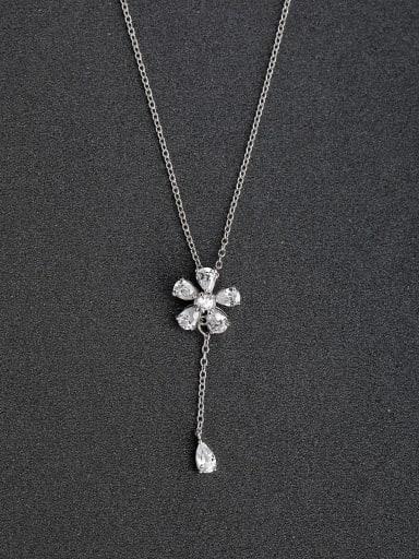 zircon sunflowers 925 Silver Necklaces