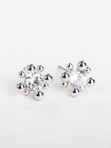 bling bling flower zircon earrings