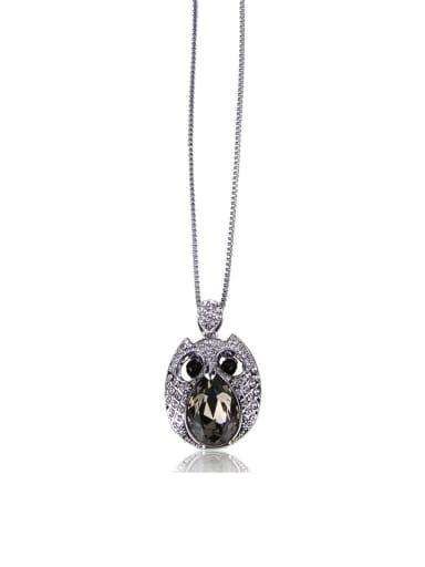 Owl Rhinestone Long necklace