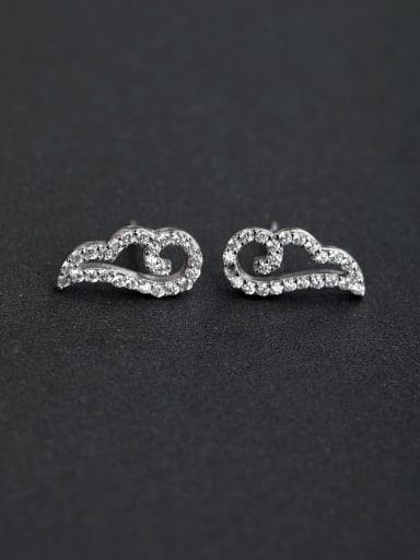 Micro inlay Zircon 925 silver Stud earrings