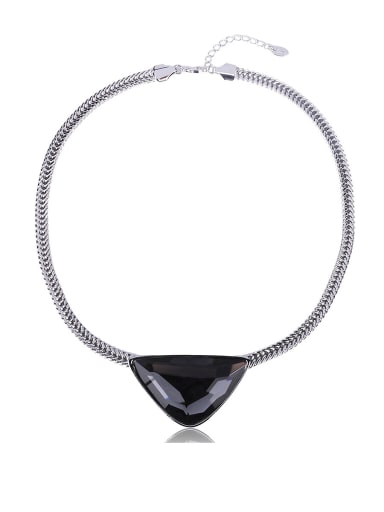 Personality Triangle Crystal Collar Necklace
