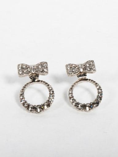 Black zircon Bowtie Cluster Earrings
