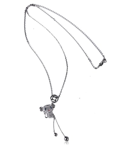 Cute little monkey Long Necklace