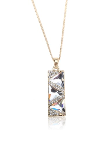 rectangle Swarovski element crystal necklace