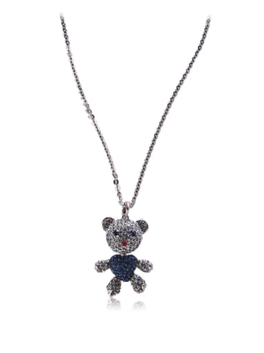 Love Bears Rhinestones Long Necklaces