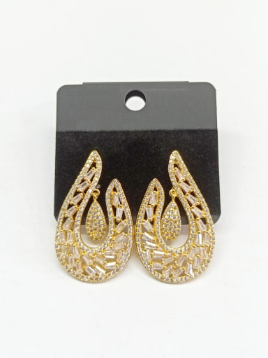 Copper With Gold Plated Classic Hook Earrings