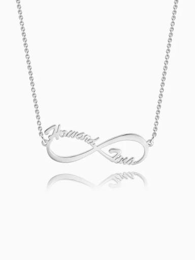 Cutsomize Infinity Personalized Name Necklace 925 Sterling Silver