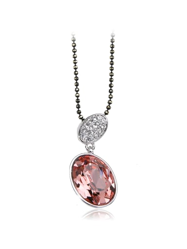 Exquisite and compact Circular Swarovski element crystal necklace