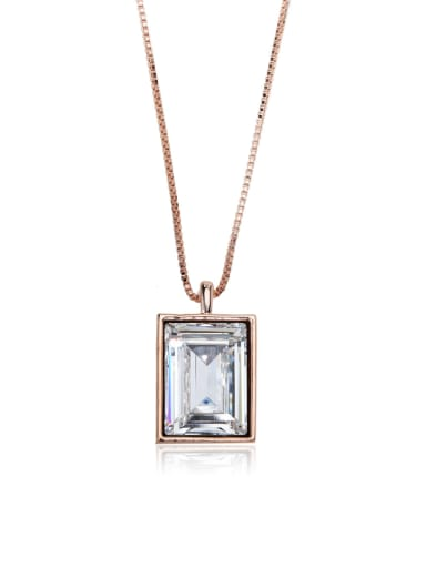 Small square crystal Classic Swarovski element crystal necklace