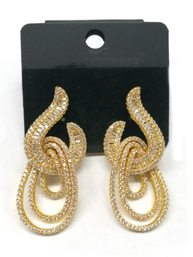 Copper With Gold Plated Exaggerated Statement Earrings