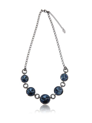 Round colorful SWAROVSKI element crystal necklace
