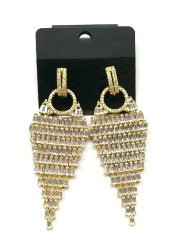 Copper With Gold Plated Trendy Water Drop Earrings