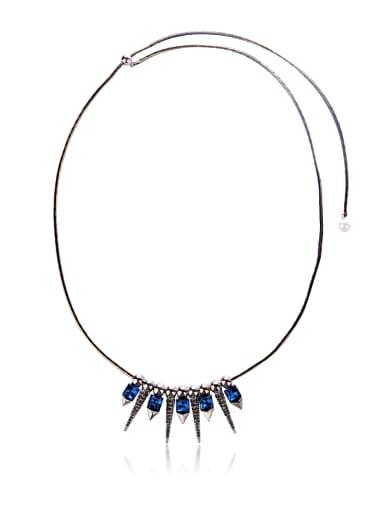 spike,rivet Rock style necklace