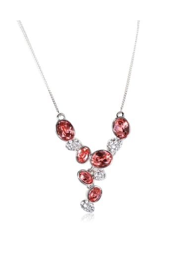 Dazzling red Rhinestone Swarovski element crystal necklace