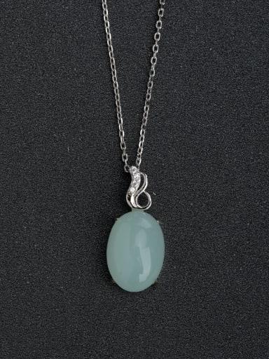 Semi-precious stones pendant 925 silver necklace