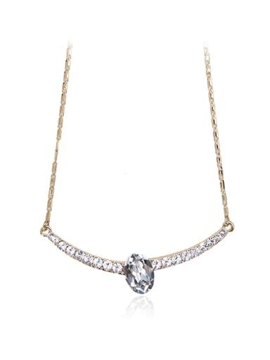 Slender Write crystal Swarovski element crystal necklace