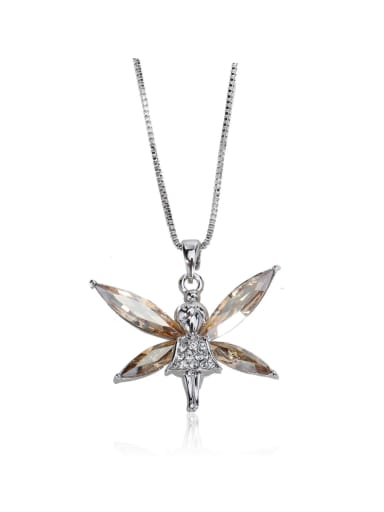 Horse Eye Stone crystal  dragonfly Swarovski element crystal necklace