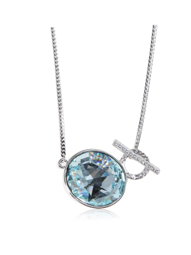 Classic SWAROVSKI element crystal white ring necklace