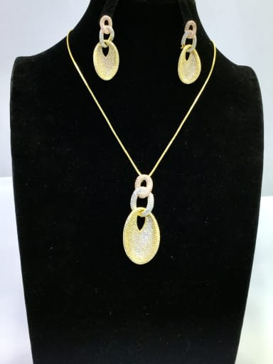 Copper With MIX Plated Vintage Irregular Jewelry Sets