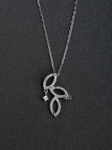 Micro inlay Hollow out the unique shape 925 Silver Necklaces