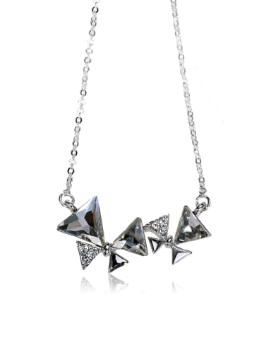 butterfly Swarovski element crystal necklace