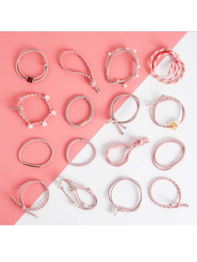 Sixteen Sets of Bright and Simple Personal Hair Ropes