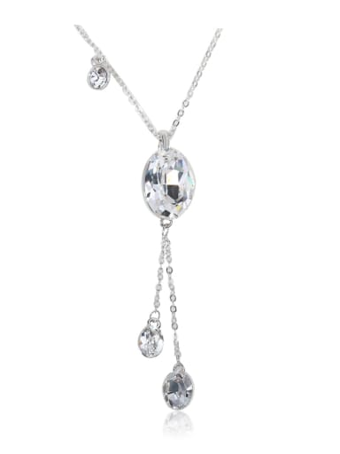 Slim and simple Classic Swarovski element crystal necklace
