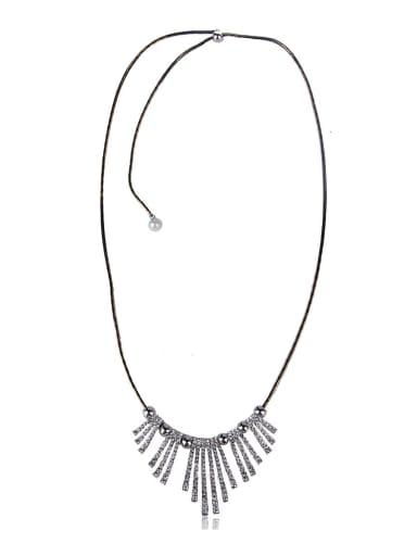 Multi-storey  bling bling Tassel Necklaces